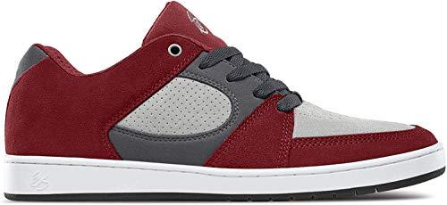 ES Herren Accel Slim Skate-Schuh, rot grau, 46 EU