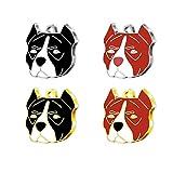 Pet Tag Art Pitbull Médaillon d'Identification en Forme de Patte Personnalisable pour Chiens et Chats - Gravée