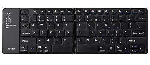 バッファロー Bluetooth 3.0対応 モバイルワイヤレスキーボード 折りたたみタイプ BSKBB700BK