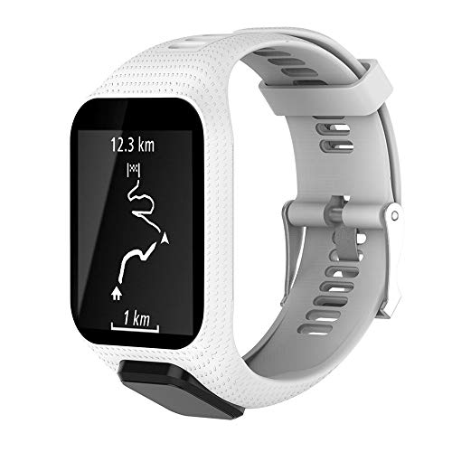 """CharmingElf Band Compatible with Tomtom Spark 3/Runner 2 3/Golfer 2/Adventurer,Silicone Watch Strap Replacement,for Man Women (6.11"""""""" (15.5 cm) to 8.66""""""""(22 cm), A02)"""