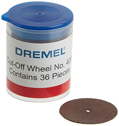 "Dremel 409 Cut-off Wheel, 15/16 "" (23.8 mm) diameter, .025"" (0.6mm) disc thickness, Cutting Rotary Tool Accessory (36 Pieces)"