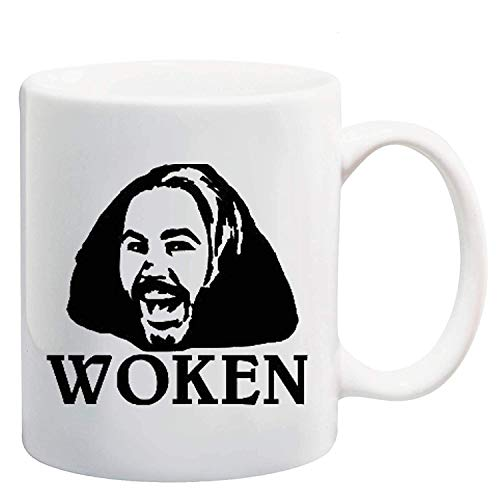 Eastlif Woken Ceramic Coffee Mug, 11 Unzen, 330 ml, weiß