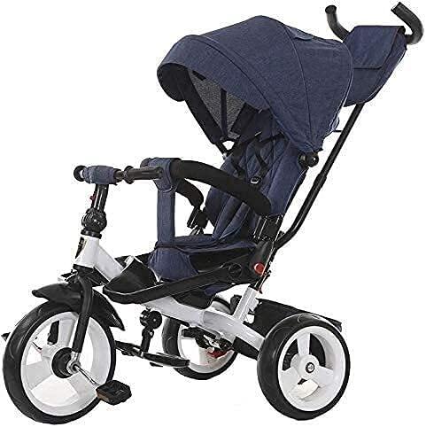 Cochecitos livianos cochecitos plegables, buggy estilo de automóvil ligero, triciclos, carruajes para bebés con ruedas adicionales, manos de empuje ajustables en altura, adecuadas para niños desde el
