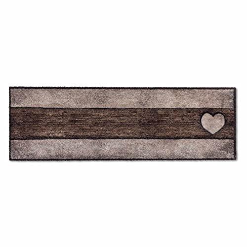 ASTRA Paillasson doux et moelleux Pure & Soft – Paillasson coloré – Paillasson intérieur – Tapis résistant – 50 x 150 cm (couleur : bois cœur marron sable)