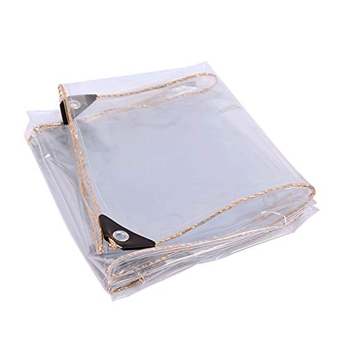 Lona Transparente Impermeable Buena Tenacidad Hoja De Lona, Invernadero Tienda Sala De Sol CáMping,Easy To Clean, Can Be Used In All Seasons.(1.5x4m/4.9x13ft)