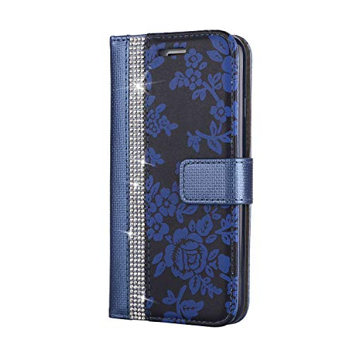 iPhone 7 / iPhone 8 Hülle, SONWO PU Leder Brieftasche Flip Schutzhülle, TPU Bumper Flip Schutzhülle Kompatibel Apple iPhone 7 / iPhone 8 mit Karte Schlitz, Blau