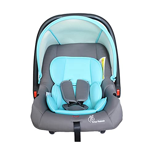 R for Rabbit Picaboo 4 in 1 Multi Purpose Baby Carry Cot,Car Seat, Rocker,Feeding Chair for Infant Babies of 0 to 15 Months & Weight Capacity Upto 13 Kgs(Blue Grey)