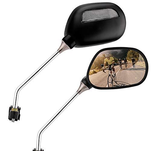 EXLECO 2 specchietti retrovisori per bicicletta, riflettori per mountain bike, regolabili a 360°, per montaggio a destra e a sinistra