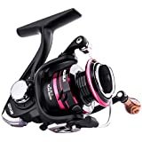 Goture Spinning Reel - Stainless Steel Bearings Smooth Powerful Fishing Reel Spinning 5.2: 1 Gear Ratio Reels Left/Right Interchangeable Fishing Reels (500)
