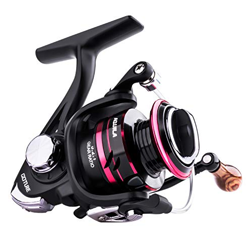 Goture Spinning Reel - Freshwater and Saltwater Fishing Reels Spinning Stainless Steel Bearings Smooth Powerful 5+1 Steel Ball Bearings - Size 500 is Perfect for Ice Fishing