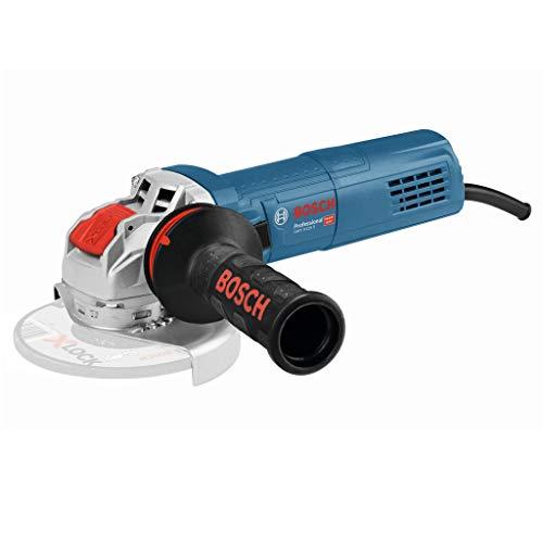 Bosch Professional GWX 9-125 S - Amoladora angular (900W, 2800-11000rpm, X-LOCK, Ø disco 125mm, velocidad variable, en caja)