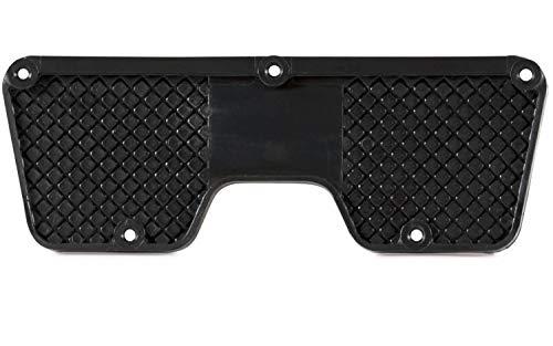 wellenshop Heckschutzplatte für Außenborder Kunststoff Platte Schutz Boot Schlauchboot Spiegel Heck Farbe Schwarz, Größe 270 x 98 mm