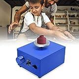 4YANG Mini rueda de alfarería 2000 RPM,Tocadiscos eléctrico de 6,5 cm a 10 cm Herramienta de arcilla DIY con bandeja para trabajos de cerámica Arcilla cerámica (azul)