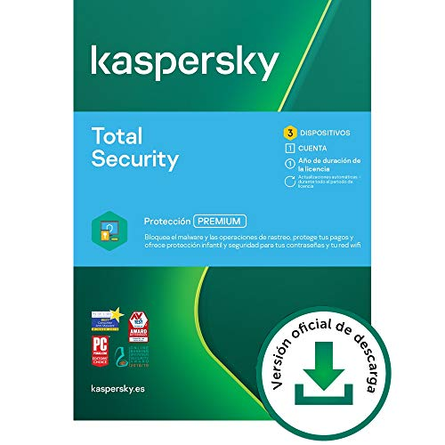 Kaspersky Total Security 2021 | 3 Dispositivos | 1 Año | PC / Mac / Android | Código de activación vía correo electrónico