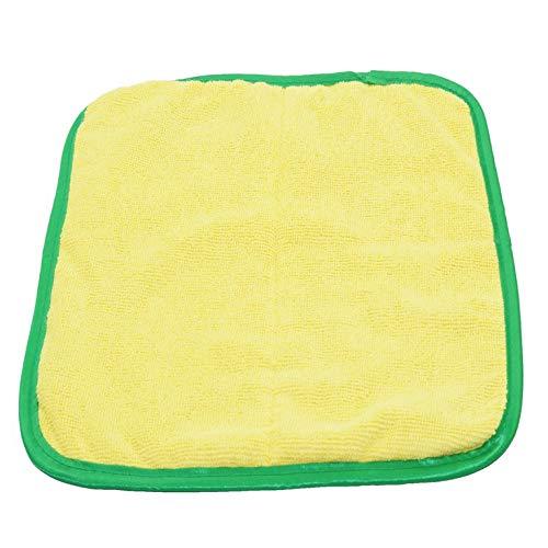 CNmuca Toalha de veludo macio coral superabsorvente para lavagem de carro Toalha de microfibra para lavagem de carro Pano de limpeza super grosso para carro Pano de pelúcia cinza e amarelo
