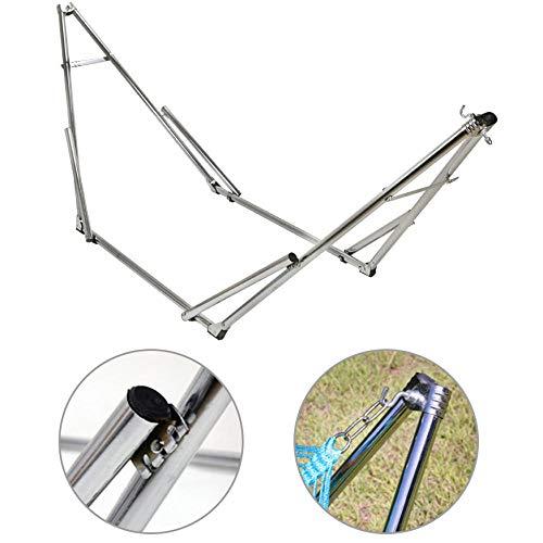 Portable Inoxydable Support Hamac Pliable pour Hammac, Charge jusqu'à 150kg (240x75x85cm) Hamac La Siesta pour Intérieur Et Extérieur