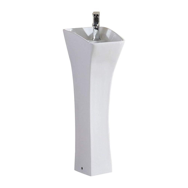 まろやかな疑問に思う宇宙飛行士洗面ボール 台座浴室セラミックホワイト容器シンクの蛇口は、排水セラミック洗面シンク 浴室洗面台 (Color : White, Size : Free size)
