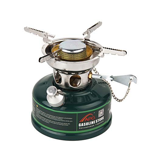 APG Camping White Gasoline Stove Mute Oil Stove Burners Outdoor Cookware Picnic Furnace
