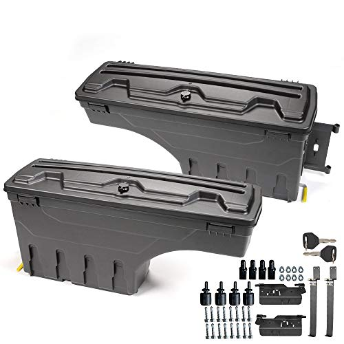 2Pcs Lockable Truck Bed Storage Box Case Toolbox Compatible For Dodge 2002-2018 Ram 1500 2500 3500 Tool Box Swing Case Driver+Passenger Side