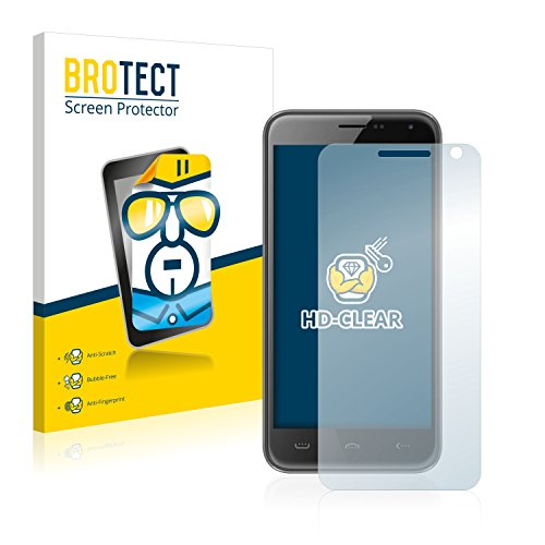 BROTECT Schutzfolie kompatibel mit Doogee Homtom HT3 Pro (2 Stück) klare Bildschirmschutz-Folie