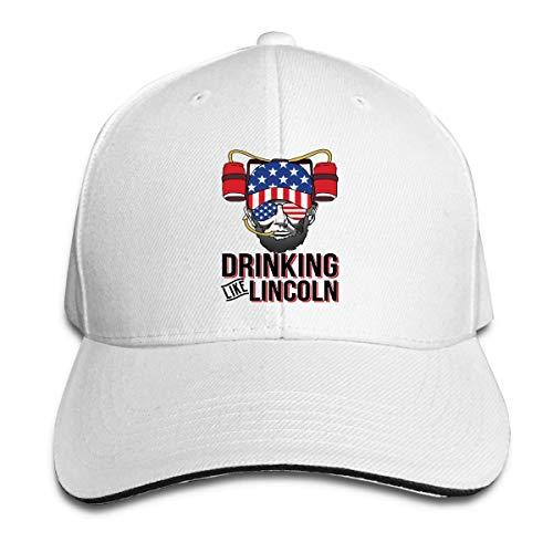 XCNGG Drinking Like Lincoln Unisex Sandwich Cap Gorra Curva