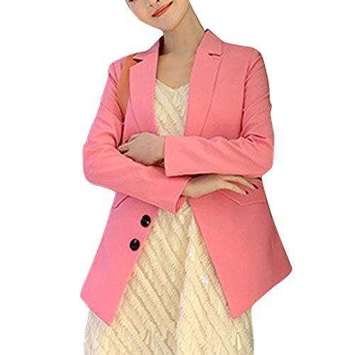 Huacat Damem Blazer Langarm Casual Elegant einfarbig unregelmäßigen Anzug Jacke Jacke Bolero