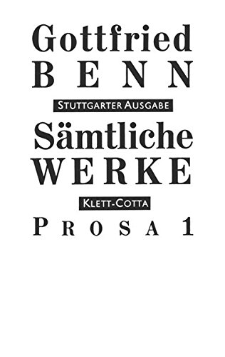Sämtliche Werke. Stuttgarter Ausgabe.: Sämtliche Werke Bd. 3: Prosa 1