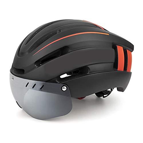JICCH 1 Piezas Montaña Casco de Ciclismo Bicicleta Casco Casco de Bicicleta de Montaña Casco de Motociclismo con Visera Magnética Desmontable Ligero Protector UV Unisexo