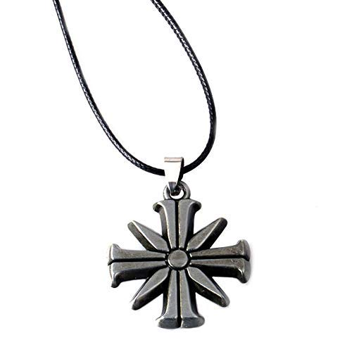 Far Cry 5 Necklace Metal Eden Gate Necklaces Pendants Rope Pendant Chain Cult Sunflower Halloween Cosplay Accessory