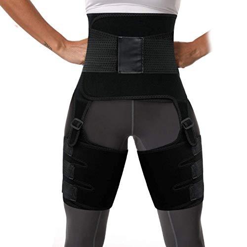 MojiDecor Bauchweggürtel Taille Schenkel Trimmer 3 in 1 Taillentrainer, Verstellbar Damen Waist Trainer Fitnessgürtel Bauch Weg Schwitzgürtel