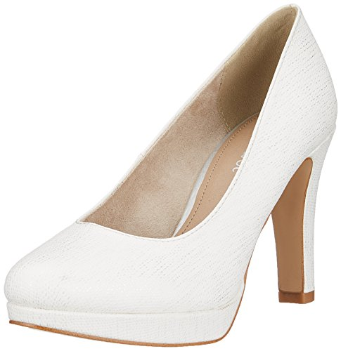 s.Oliver Damen 22410 Pumps, weiß (white struct.), 38 EU