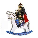Anabei Nussknacker Trojanisches Pferd Schaukelpferd Puppet Soldat Holz Basteln Dekoration Spot