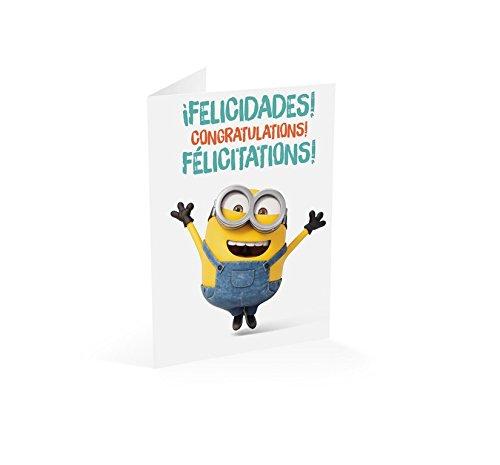 Grupo Erik–Minions Karte Herzlichen Glückwunsch Congratulations Félicitations