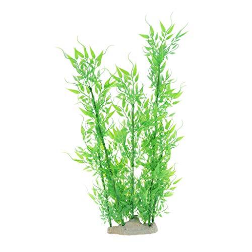 SM SunniMix Künstliche Pflanzen Lebensechte Grüne Kunstpflanzen für Aquarium und Terrarium - L