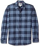 Amazon Brand - Goodthreads Men's Slim-Fit Long-Sleeve Brushed Flannel Shirt, -denim buffalo, Large