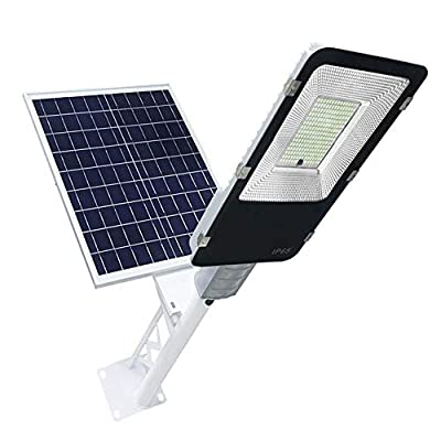 Solar Street Light Outdoor, 200W LED Flood Lights Lamp with Remote Control Timing High Brightness Dusk to Dawn Security Lighting for Yard, Garden, Gutter, Pathway, Basketball Court