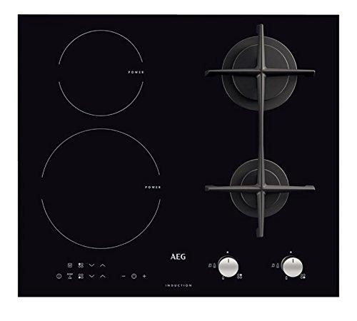 AEG–HD 634170NB - Encimera de cocina mixta a inducción y gas, acabado en...