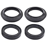 MOTOKU Pack of 4 Fork Oil Dust Seal for FXDC FXD FXDL FXDS-CON FXDX FXLR FXR XL1200 CB650 VF700 VF750