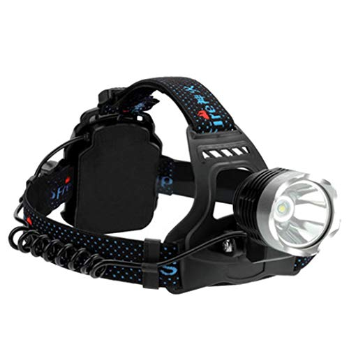 Faros Delanteros para Exteriores, Luces de montaña, Senderismo, Impermeable, Luces LED de Camping, Luces de Noche de Pesca, Luces de Mantenimiento de Alta Potencia de la lámpara de minero Negro Negro