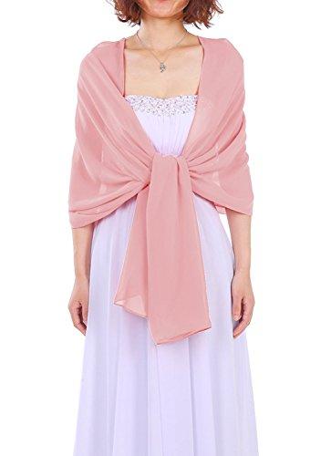Dressystar Chiffon Stola Schal für Kleider Blush 160cm*50cm