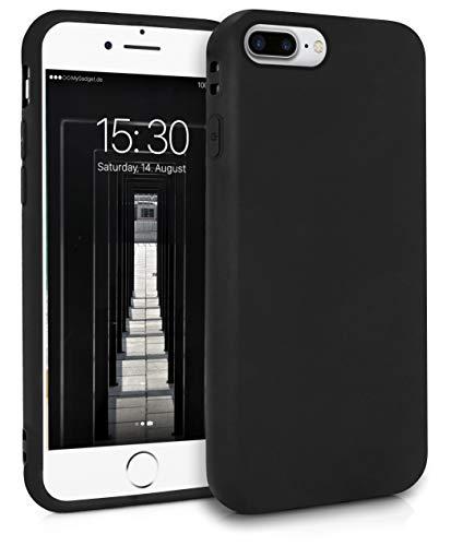 MyGadget Cover per Apple iPhone 7 Plus / 8 Plus - Custodia Protettiva in Silicone Morbido – Case TPU Flessibile/Antiurto/Antigraffio/Ultrasottile Nero