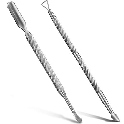 Nail Art Soak Off Gel Polish Cuticle Pusher Peeler Scraper Remover Tools with Unique Triangle Tip...