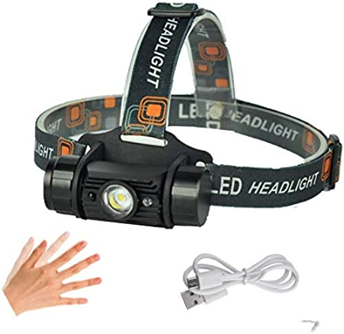 Lliang Headlamp 1000luPour des hommes Mini Induction Headlumière IR Sensor Head Torch Rechargeable Headlamp Camping Hunting Flashlumière