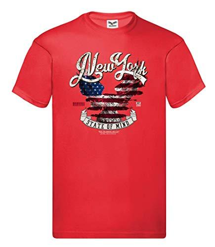 Camiseta – New York Águila Vintage – Camiseta Unisex para niños – Niño y niña Rojo 128