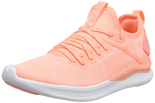 Puma IGNITE Flash evoKNIT Wn's, Damen Laufschuhe, Orange (Bright Peach-Puma White), 37.5 EU ( UK)