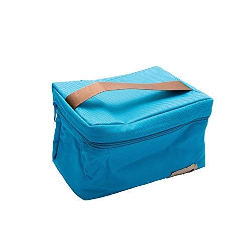 Prácticas pequeñas bolsas de hielo portátiles, 3 colores, impermeable, bolsa más fría, paquete de picnic de ocio, caja térmica para alimentos, azul