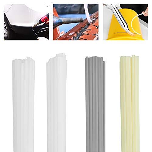 KBNIAN 50 pezzi di fili di saldatura ABS/PVC/PE/PP – Bastoncini di saldatura in plastica, 4 colori, per la riparazione del sudore (lunghezza 200 mm)