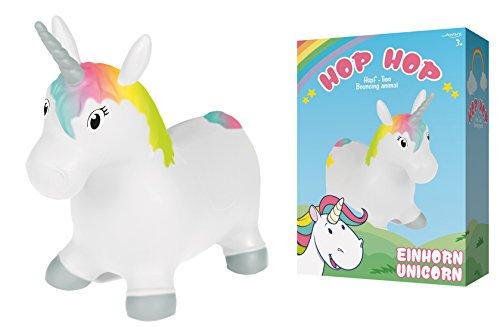 John Sprungpferd Einhorn Hop Hop Hüpfpony Unicorn 55 cm