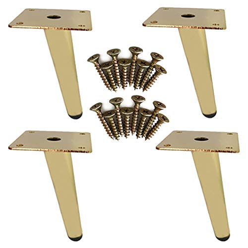 LM 4×Meubelpoten, Moderne Sofa Benen Meubels Accessoires van Tafelkast Metalen Benen, Kastpoten Sofa Voeten/TV kast voet tafel poten meubels bank benen, met zwart rubber mat, veilig en rustig