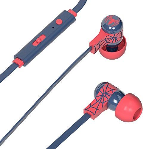 Tribe Marvel Auricolari I Cuffie In-Ear Stereo con Microfono per Cellulare e comando multifunzione - Spiderman